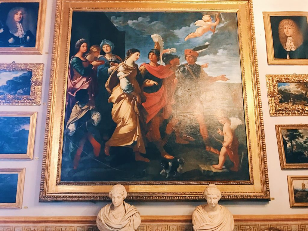 "Giacinto Campana, Abduction of Helen, Room III, also called ""Galleria del Cardinale"" (Cardinal's gallery), Rome, Palazzo Spada, Galleria"