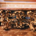 Carved and gilded wood table commissioned by Fabrizio Spada, Palazzo Spada, Galleria