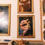 "Artemisia Gentileschi's paintings on display at Room IV, also called ""Studiolo grande"" (big studiolo), Rome, Palazzo Spada, Galleria"