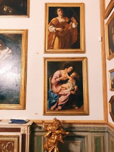 "Artemisia Gentileschi's paintings on display at Room IV, also called ""Studiolo grande"" (big studiolo), Rome, Palazzo Spada, Galleria"