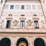 Palazzo Spada porticoed courtyard, front façade, stucco decorations by Giulio Mazzoni and others, ca. 1556-1560, Rome