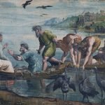 Raffaello Sanzio, The Miraculous Draft of Fishes, 1515-16, tempera on paper, mounted on canvas (360 x 400) cm, London, Victoria and Albert Museum