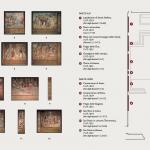 Display map of Raffaello's tapestries set-up at the Sistine Chapel to commemorate the Anno Sanzio, Vatican City, Sistine Chapel, 17 - 23 February 2020