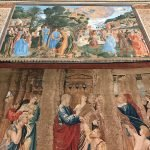 Pieter van Alest's workshop, The Healing of the Lame Man, detail of the tapestry after Raffaello Sanzio's design, 1517-1519, southern wall of the Sistine Chapel, Vatican City, Sistine Chapel, 17 - 23 February 2020