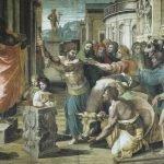 Raffaello Sanzio, The Sacrifice at Lystra, 1515, tempera on paper, mounted on canvas (350 cm x 540) cm, London, Victoria and Albert Museum