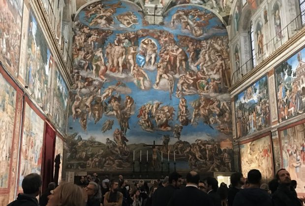 Raffaello's tapestries set-up at the Sistine Chapel to commemorate the Anno Sanzio, Vatican City, Sistine Chapel, 17 - 23 February 2020