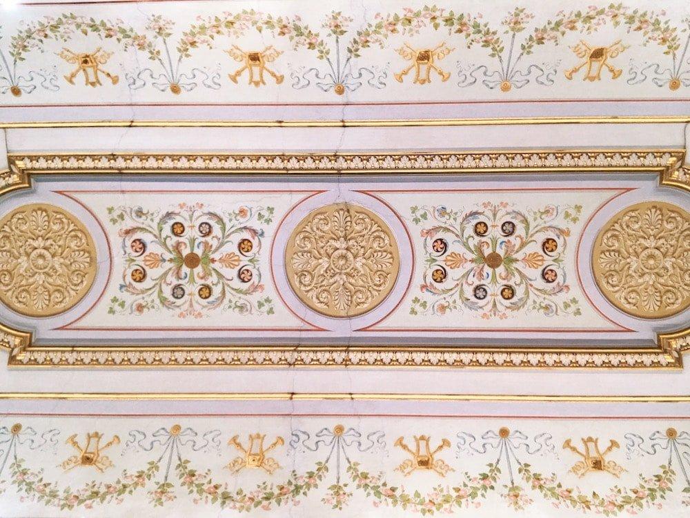 Mural decoration on the vault of the Galleria del Cardinale (Cardinal Gallery) at Galleria Corsini, Rome, Galleria Nazionale d'Arte Antica in Palazzo Corsini