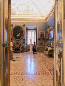 View of the Camera del Camino (Fireplace Chamber), at Galleria Corsini, Rome, Galleria Nazionale d'Arte Antica in Palazzo Corsini
