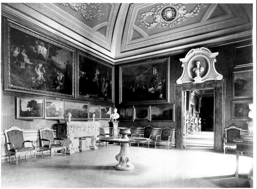 Ludovico Tuminello, The first hall of Galleria Corsini, Rome, august 1833. Image (C) Galleria Nazionale d'Arte Antica