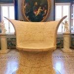 Trono Corsini, 1st century BC, marble (82 x 49) cm, at the Camera del Camino (Fireplace Chamber) of Galleria Corsini, Rome, Galleria Nazionale d'Arte Antica in Palazzo Corsini, Inv. 666.