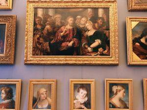 Paintings on the wall of Camera del Camino (Fireplace Chamber), Galleria Corsini, Rome, Galleria Nazionale d'Arte Antica in Palazzo Corsini