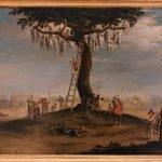 From Jacques Callot, Malfattori impiccati (Hanged Wrongdoers), oil on copper (25x34) cm, Galleria Corsini, Rome, Galleria Nazionale d'Arte Antica in Palazzo Corsini, Inv. 247
