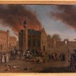 From Jacques Callot, Incendio di un monastero (Monastery Fire), oil on copper (25x34) cm, Galleria Corsini, Rome, Galleria Nazionale d'Arte Antica in Palazzo Corsini, Inv. 243