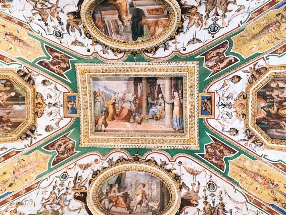 Zuccari's school, Stories of King Solomon, mural decoration on the vault of the Camera dell'Alcova (Alcova Room) at Galleria Corsini, Rome, Galleria Nazionale d'Arte Antica in Palazzo Corsini