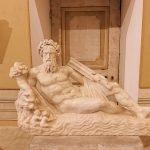 Personification of the Tiber river, copy from ancient sculpture dating around 16th-17th century, at Gabinetto Verde (Green Cabinet), of Galleria Corsini, Rome, Galleria Nazionale d'Arte Antica in Palazzo Corsini
