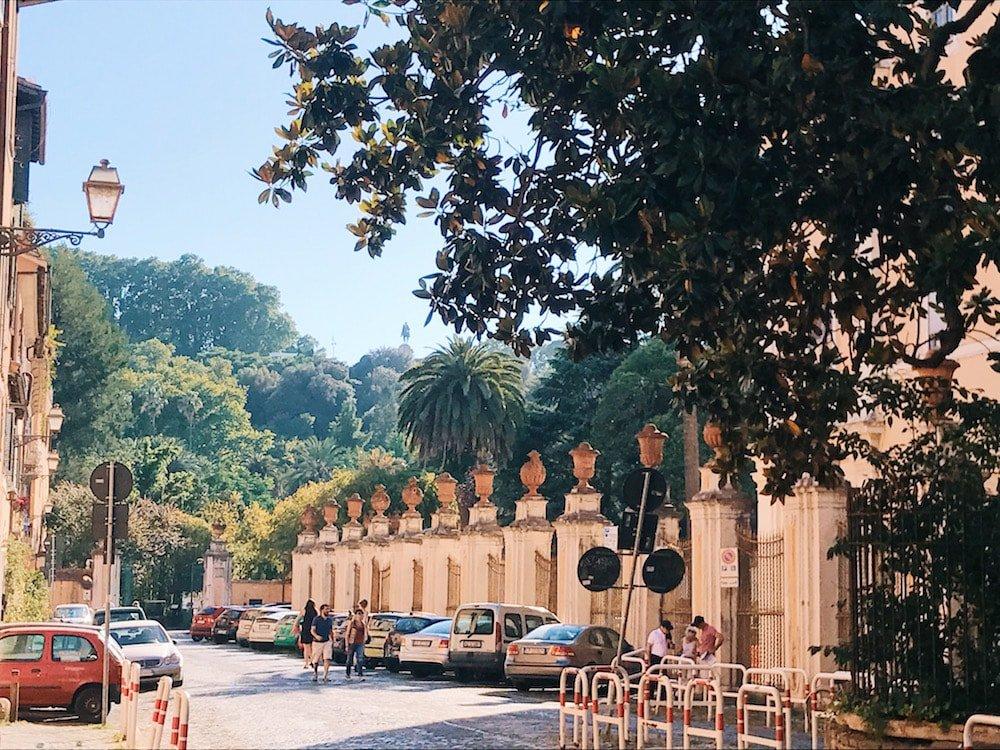 Exterior view of the gardens, Rome, Galleria Nazionale d'Arte Antica in Palazzo Corsini