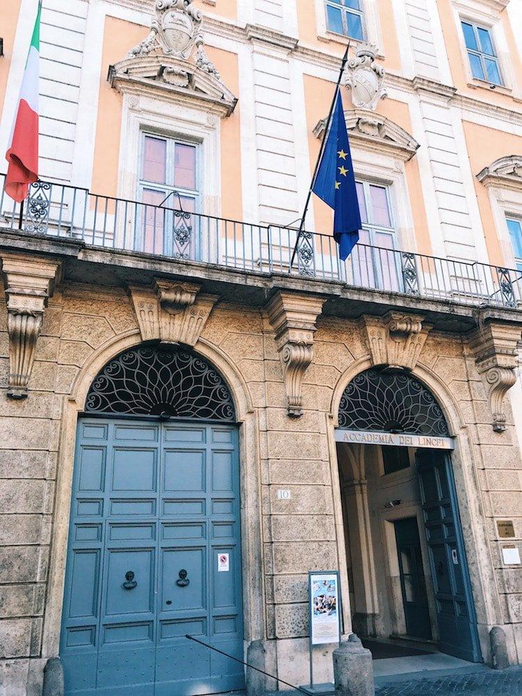 Entrance to the palace, Rome, Galleria Nazionale d'Arte Antica in Palazzo Corsini